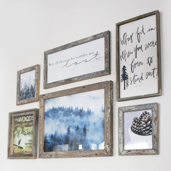 Rustic Woodland Wall Gallery