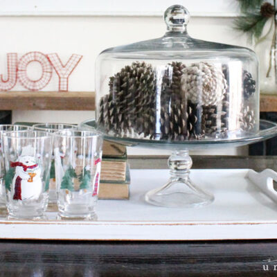 My Super Simple Rustic Winter Tablescape