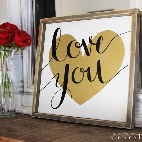 diy love you sign