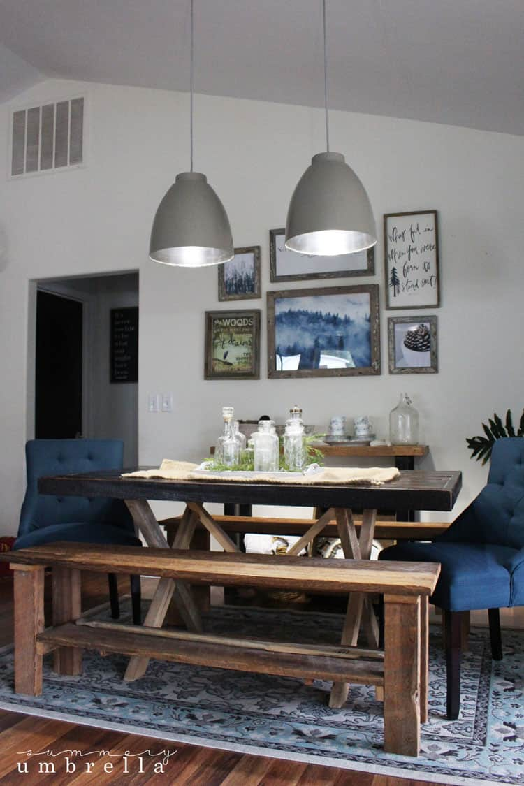 Then I Switched Out My Repurposed Repainted And Very Outdated Dining Room Chairs With These Juliette In Azure