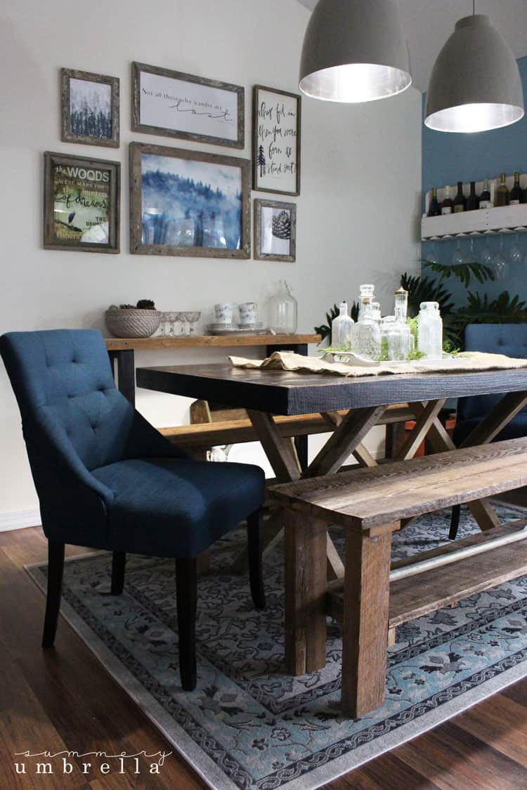 rustic dining room update | the summery umbrella