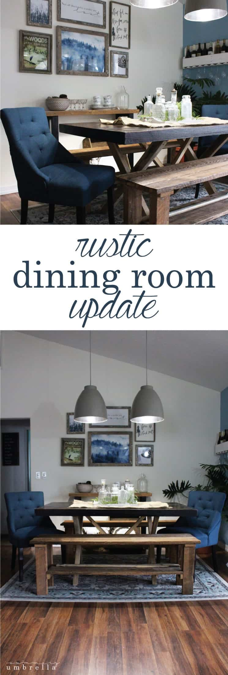 Slowly but surely I've been revamping the whole house, and I'm really excited to show you the results of my Rustic Dining Room Update today!