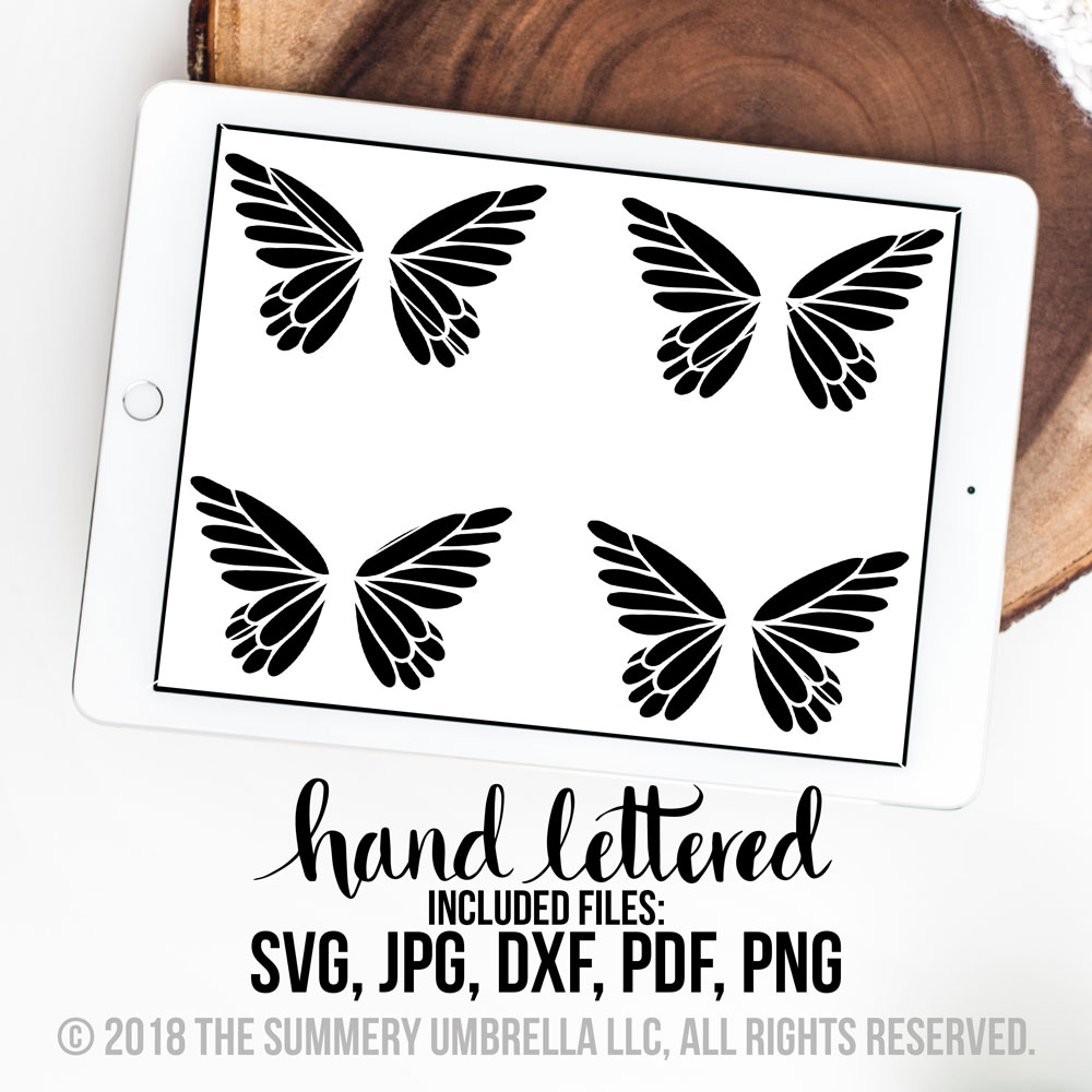 butterflies svg cut file only the summery umbrella