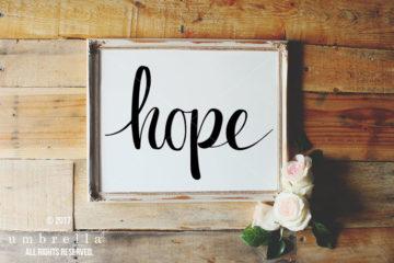 diy hope sign