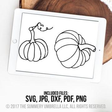 pumpkin fall svg