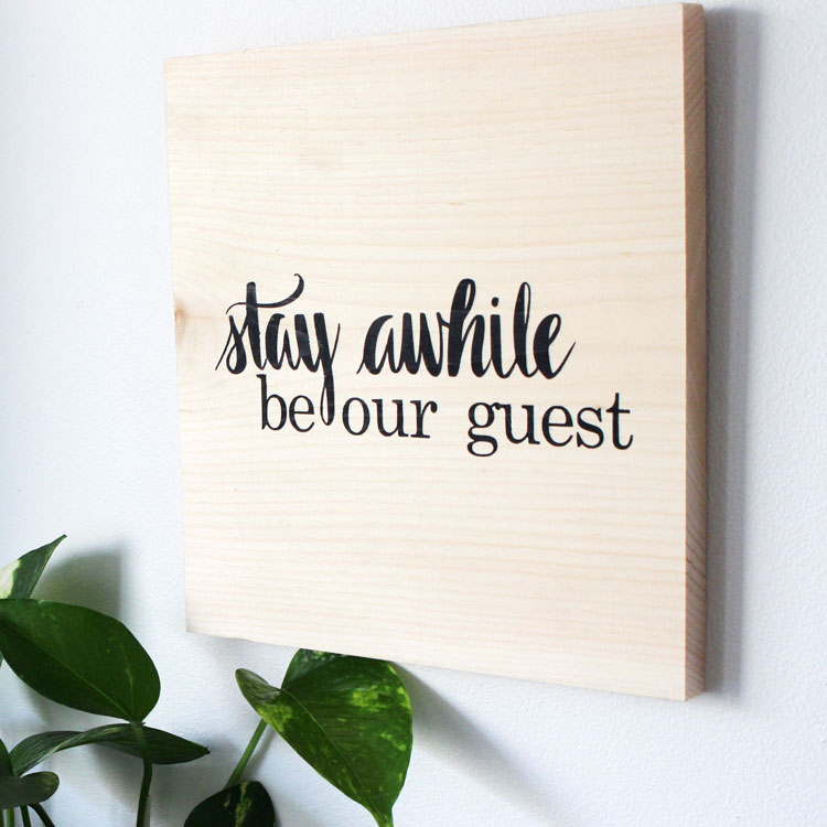 guest bedroom wood sign ideas