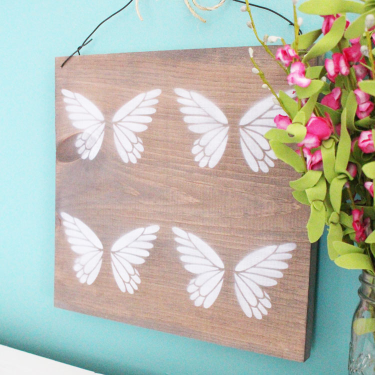 diy butterfly sign