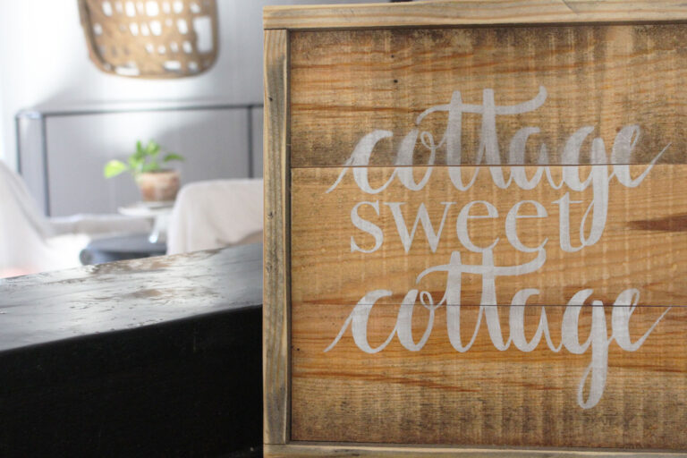 diy cottage sweet cottage sign