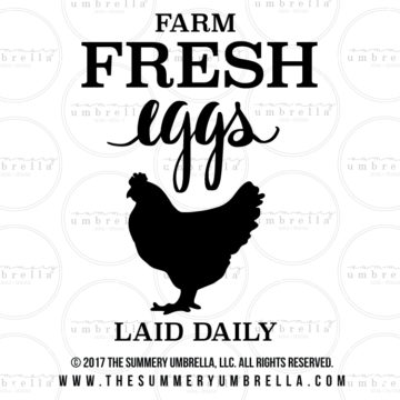 diy fresh eggs wood sign