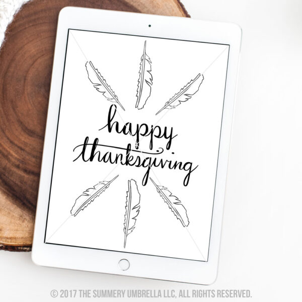 happy thanksgiving printable