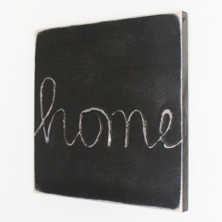 diy home wood sign