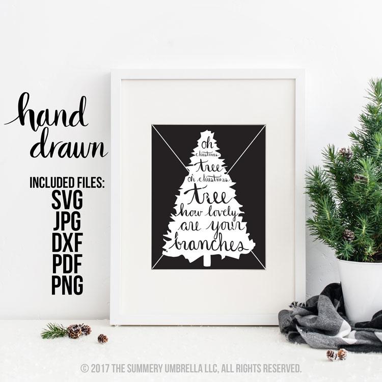 Oh Christmas Tree.Oh Christmas Tree Svg Cut File