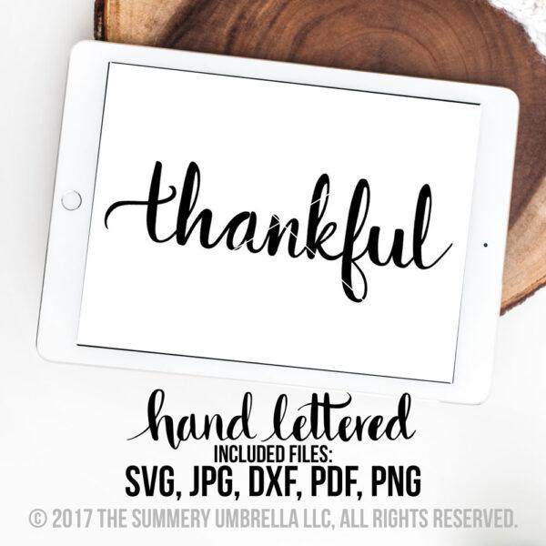 thankful svg