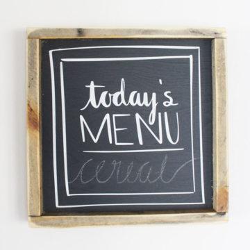 menu printable