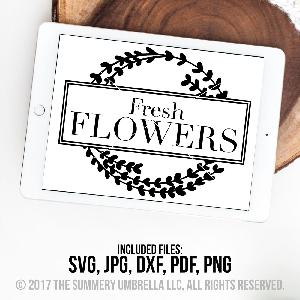 Fresh Flowers SVG