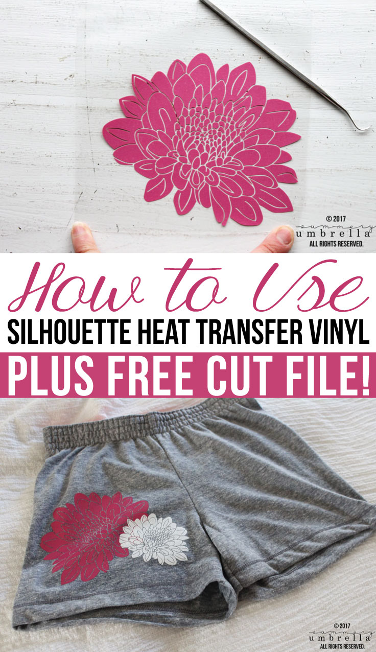 Learn how to add a little spice to your next project with Silhouette Heat Transfer Vinyl! PLUS, in this tutorial I'm giving away a flower cut file. Definitely a win-win!