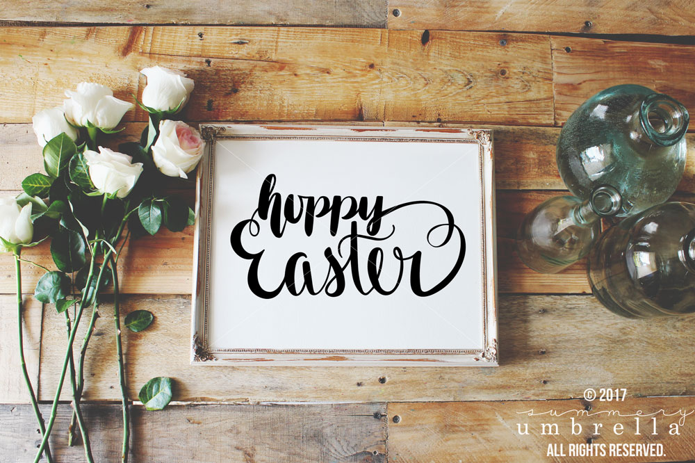 Hoppy Easter, Happy Easter, SVG, Cut File, Easter Cut File, Hoppy Easter Cut File, Silhouette CAMEO