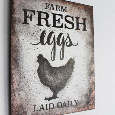 Create Your Own DIY Farm Fresh Eggs Sign: Faux Metal Paint with Video Tutorial