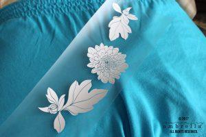 Part II: Using Heat Transfer Vinyl with Fabric PLUS Free Flower Cut File