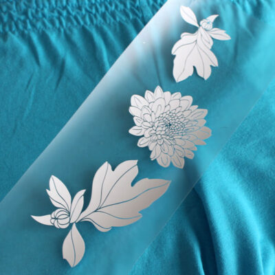 Part II: Using Heat Transfer Vinyl with Fabric PLUS Free Flower Cut File