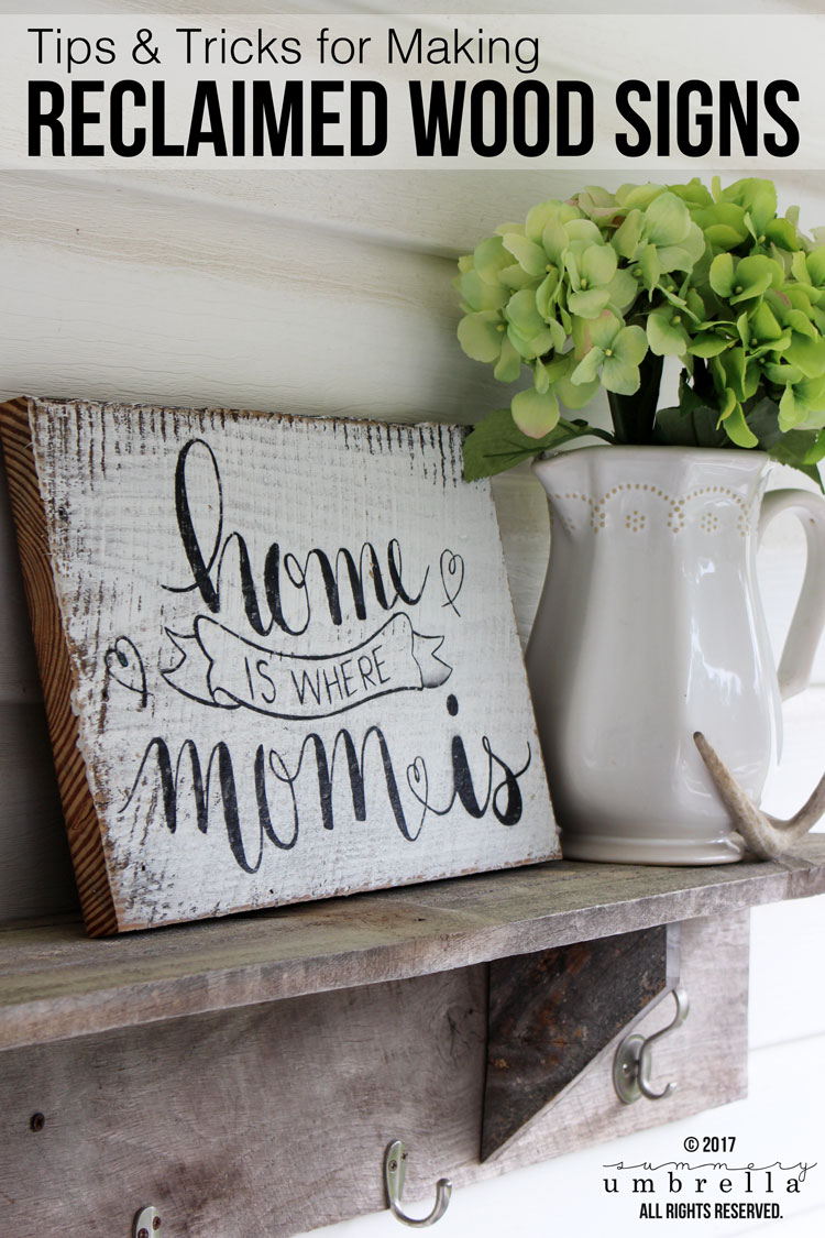 Today I'm sharing my TOP Tips and Tricks for Making Reclaimed Wood Signs. It's not as hard as it looks & all you need to do is follow a few simple steps. See for yourself!
