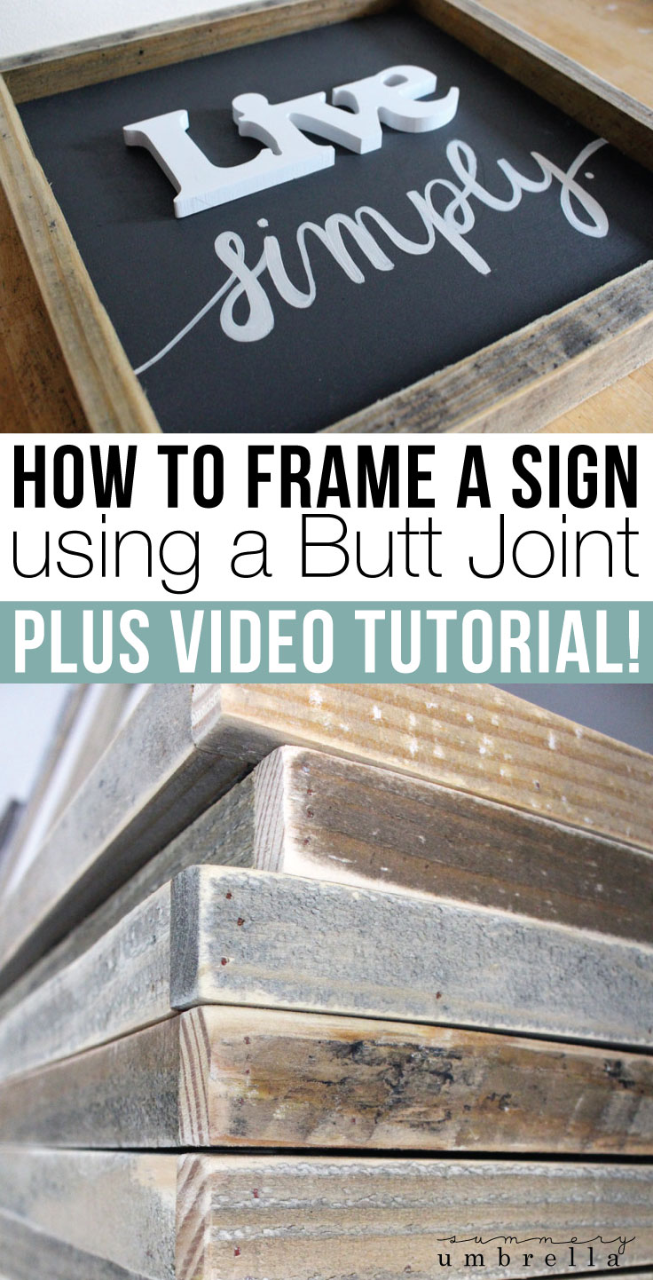 Have you ever wondered how to frame a sign that you just created? Believe it or not, it's actually pretty easy! Let me show you how with this easy guide!