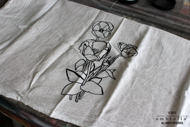 diy screen printing tea towel