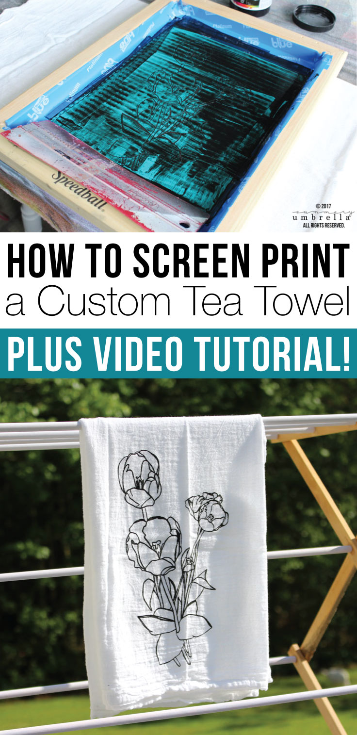 Want to know How to Screen Print a Custom Tea Towel? Today, I'm not only going to tell you how, but show you as well! PLUS, this free design is included!
