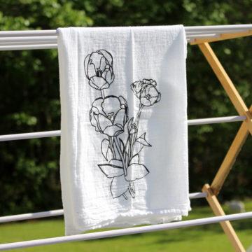 diy tulip tea towel