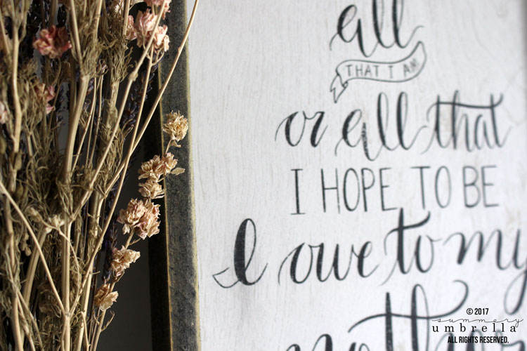 The best DIY mother's day wood sign