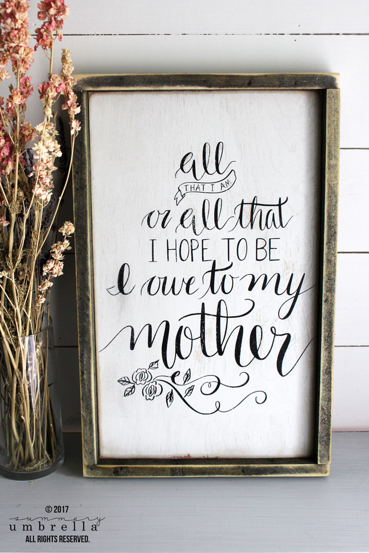 DIY wood sign for mom