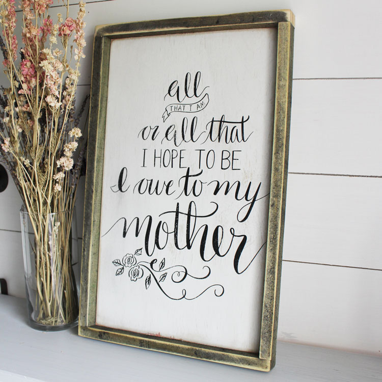 Ever since we were little the best gifts have always been homemade gifts. Show your mother how thoughtful you are with this DIY Mother's Day Wood Sign!