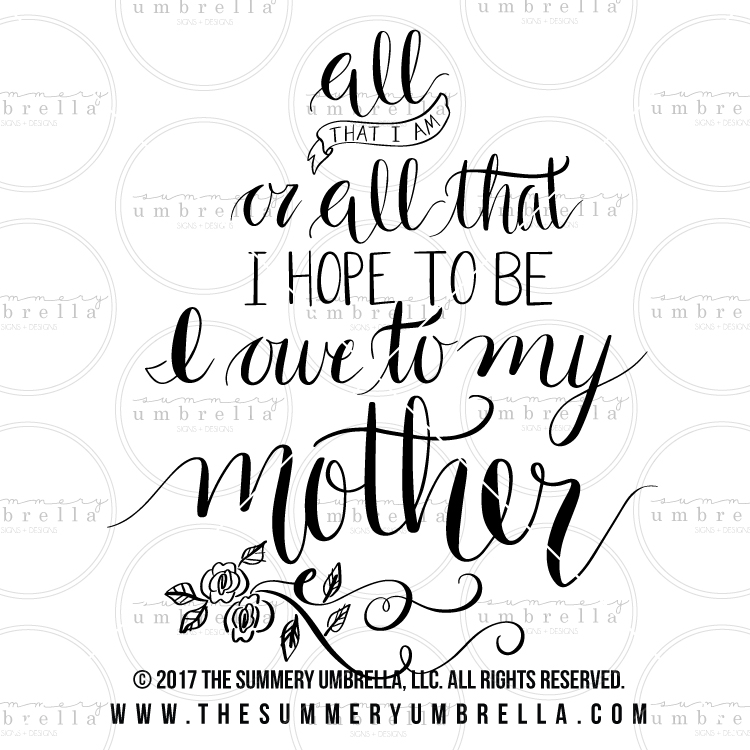 mothers day quote vector