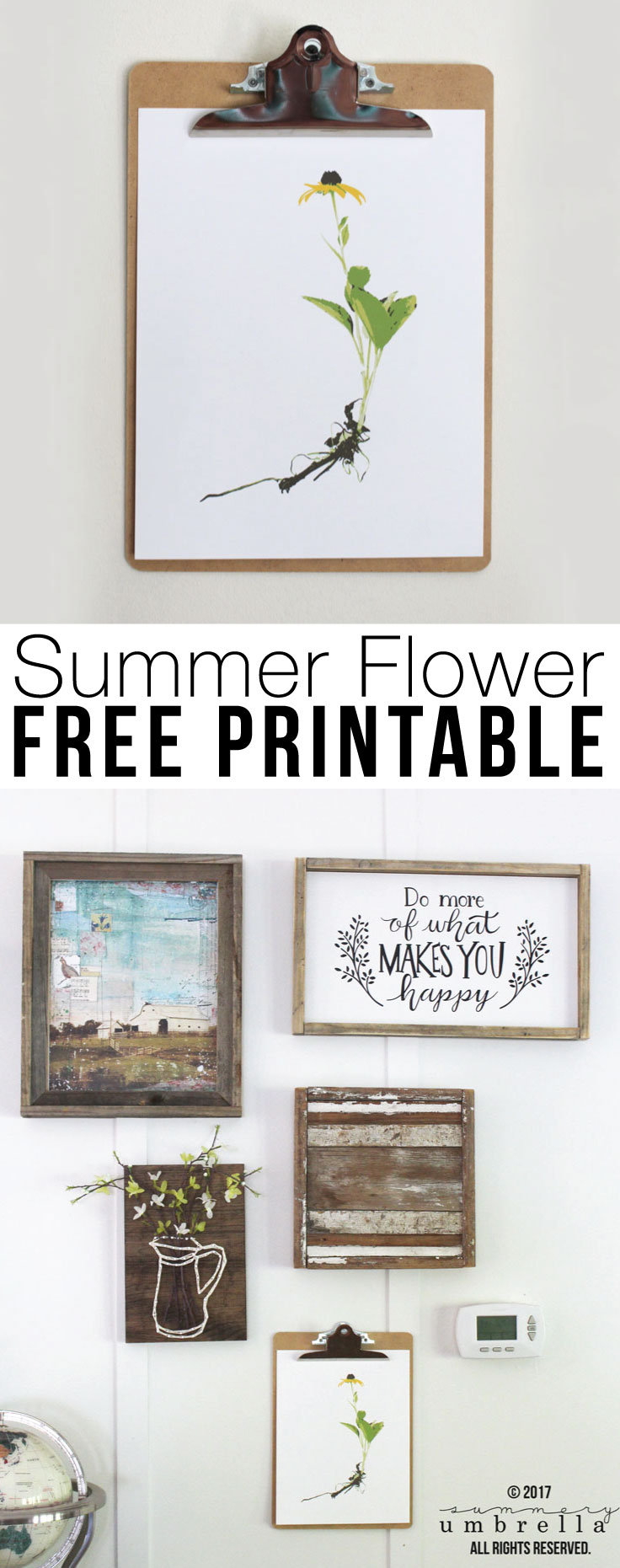 #FFF: Spruce up your home with this gorgeous Summer Flower FREE Printable Wall Decor that is now available on the blog today!