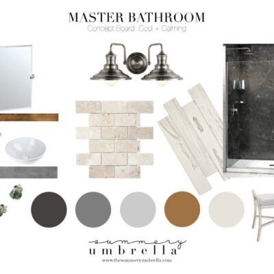 Rustic and Industrial Master Bathroom Remodel Update
