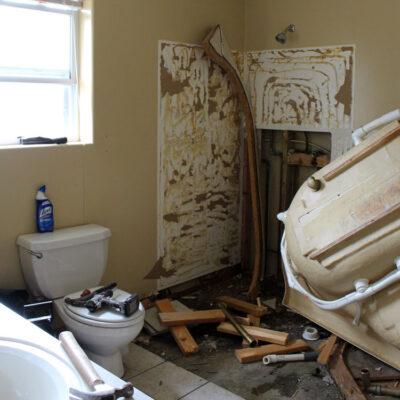 Rustic and Industrial Master Bathroom Remodel Update