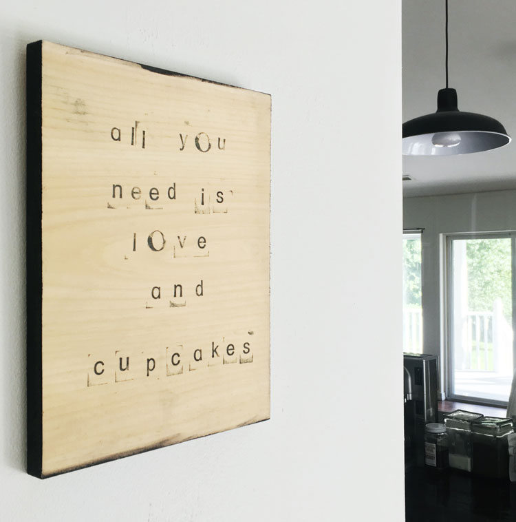 How to Make a Sign Using Stamps