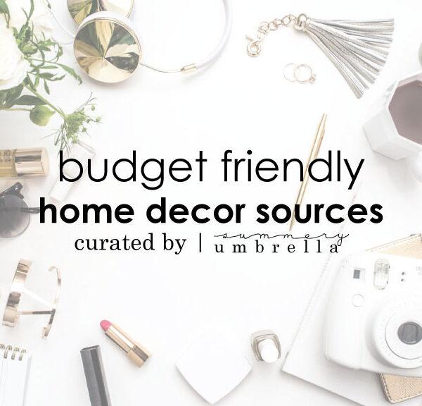 budget friendly home decor