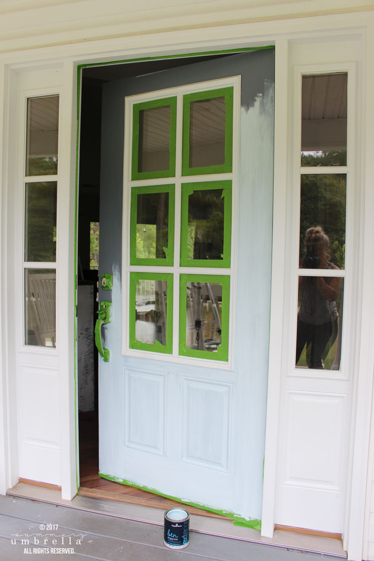 how to paint a new steel exterior door