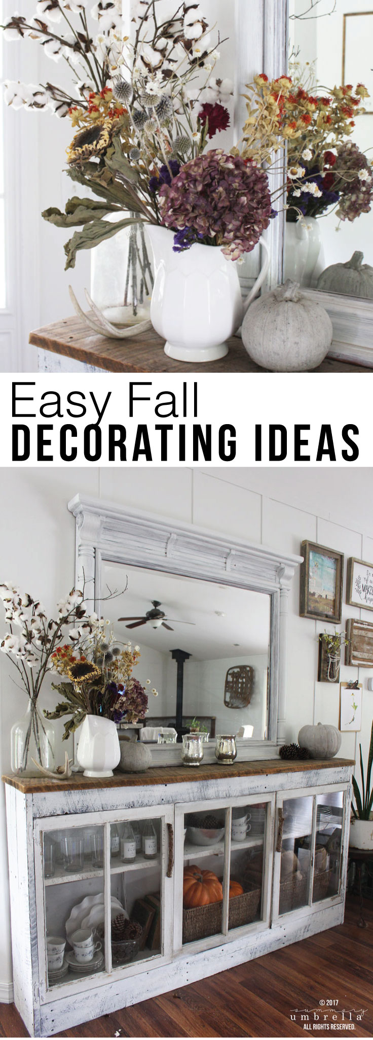 Have you been looking for Super Easy Fall Decorating Ideas that can be used on a variety of spaces? Look no further because this is the post for you!