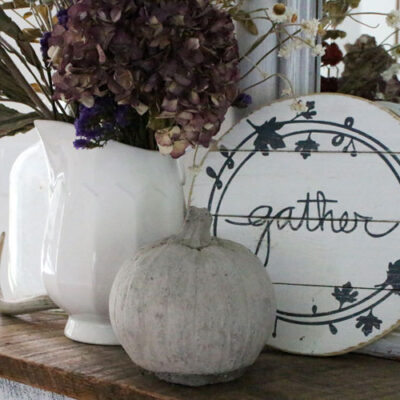How to Create Your Very Own DIY Gather Fall Sign