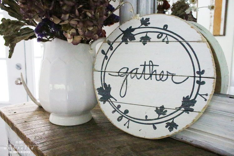 diy gather wood fall sign