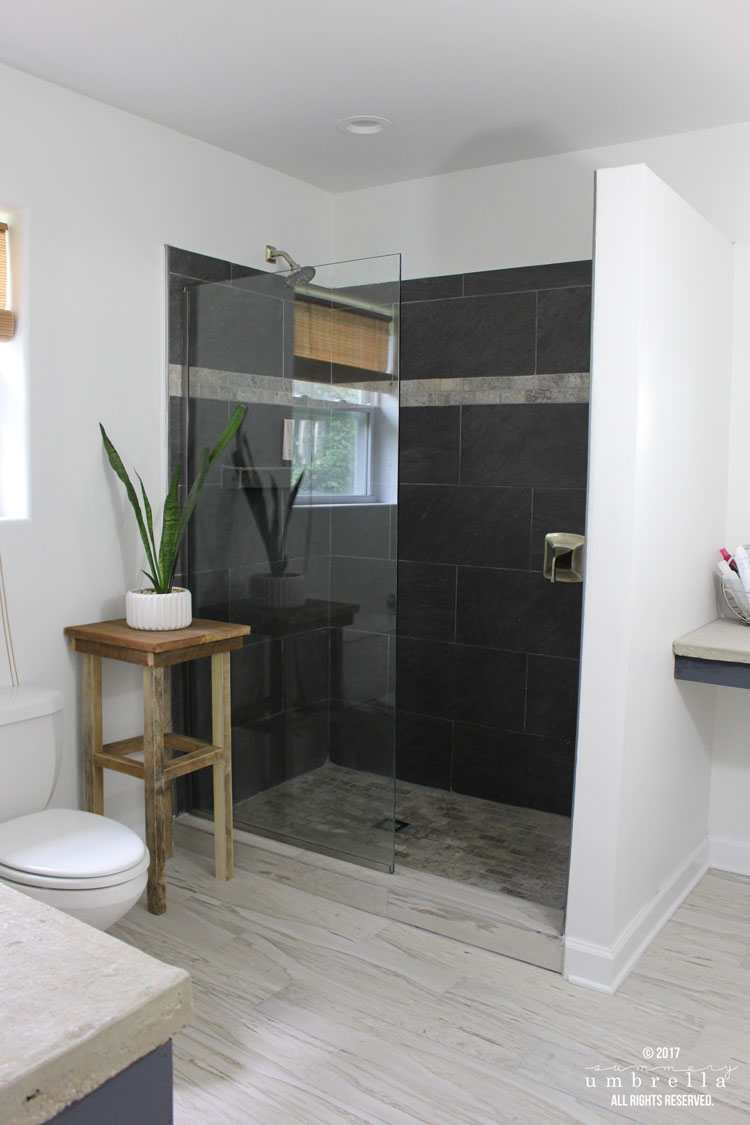 My industrial master bathroom remodel before and after for Master bath remodel 2017