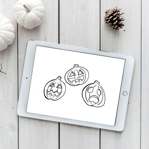 halloween pumpkins svg
