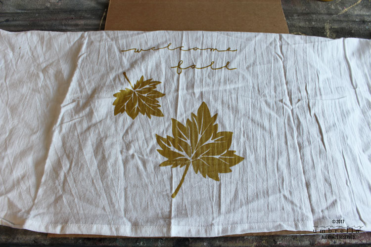 fall tea towel diy