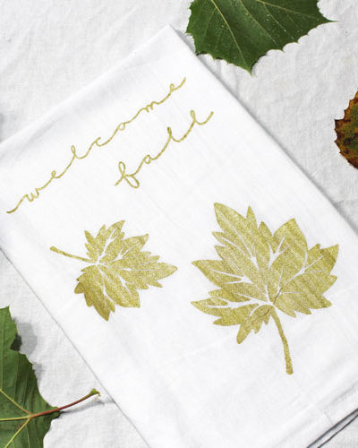 Easy DIY Fall Tea Towel with Video Tutorial