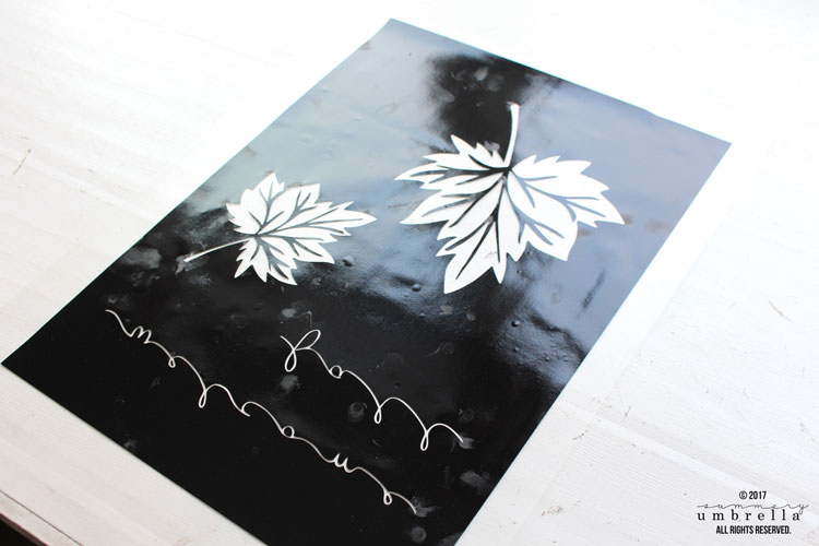 screen printing diy fall tea towels