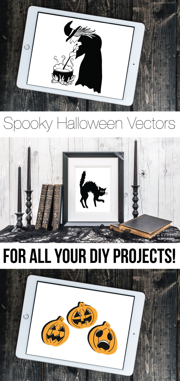 You'll definitely want to check out this spooky and festive array of Fall and Halloween Vectors new to The Summery Umbrella shop! They can be used for as large array of projects like: cards, art prints, graphics, t-shirts, and much , much more! In fact, join The Studio Pass Membership, and you will get these beauties (and more) for free!