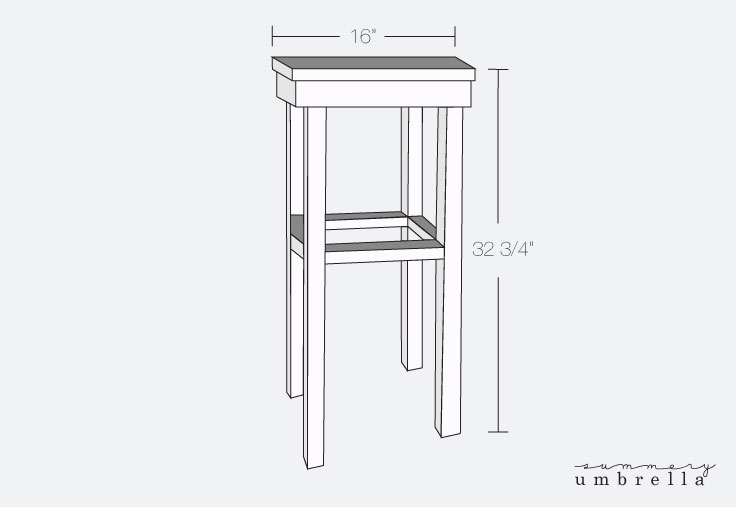 diy wood planter stand plan