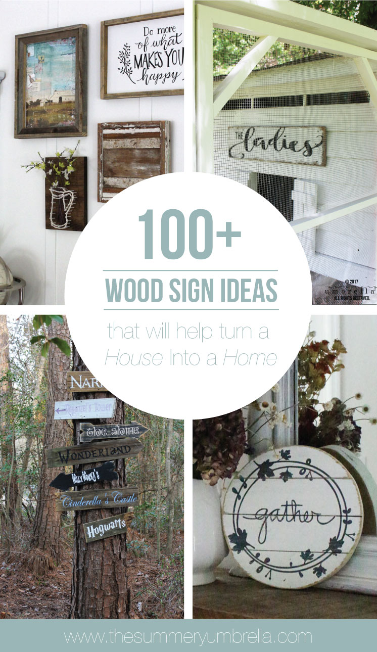 Do you love wood signs, but struggle where or which ones to use? Learn how with these 100+ Wood Sign Ideas That Will Help Turn a House Into a Home.